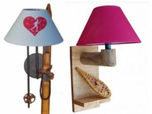 Luminaire lampe bois et applique montagne et chalet - Decoration murale montagne ...