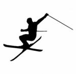 Décoration murale skieur 3