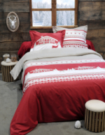Housse de couette Chambery rouge