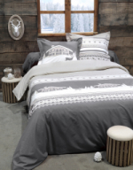Housse de couette Chambery gris