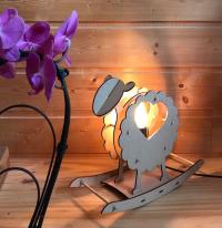 Mouton a bascule lampe