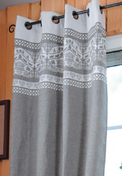 rideaux de montagne et chalet. Black Bedroom Furniture Sets. Home Design Ideas