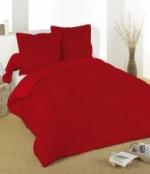 Drap housse couleur rouge
