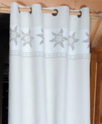Rideau Montagne Edelweiss blanc