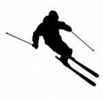 Décoration murale skieur 1